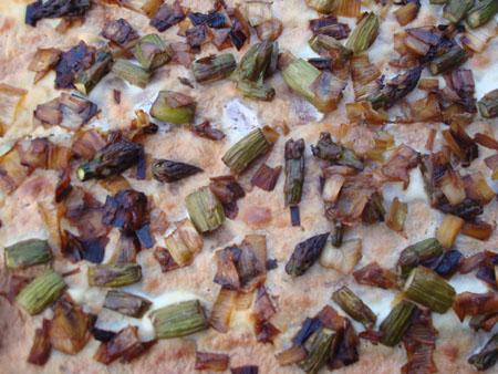 leek asparagus pizza