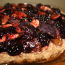 Raw Fig and Blackberry Tart from Healthy Green Kitchen