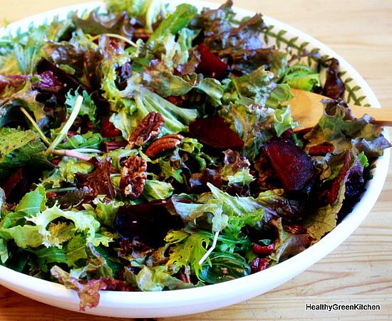 beet and pecan salad
