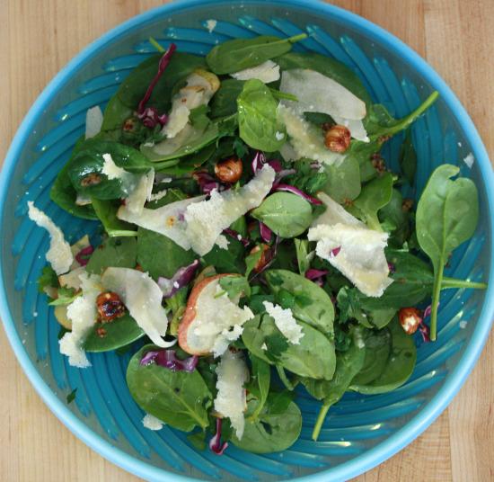 spinachsaladabove