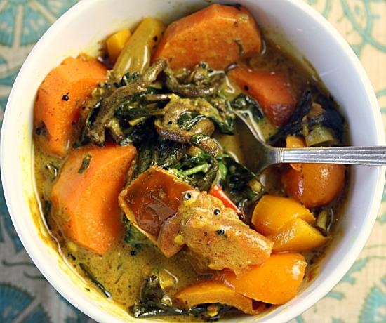 curried spring vegetables