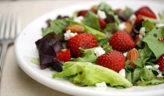 strawberry salad   healthy green kitchen
