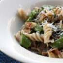 gluten free pasta with peas
