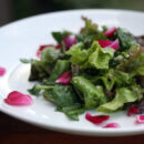 pea and rose petal salad 1