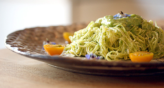 zucchini pasta avocado sauce