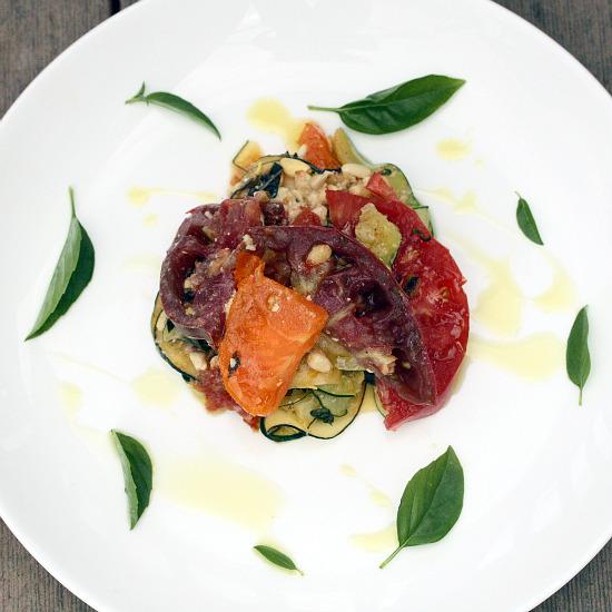 tomato lasagna top