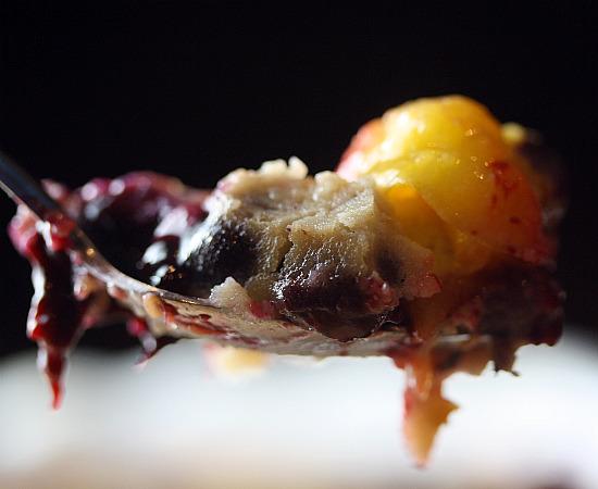 forkful plum tart