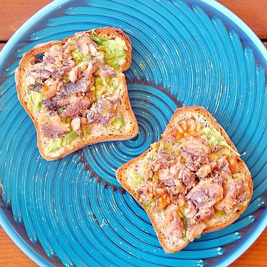 Sardine Avocado Sandwich