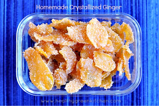 Crystallized Ginger from www.healthygreenkitchen.com