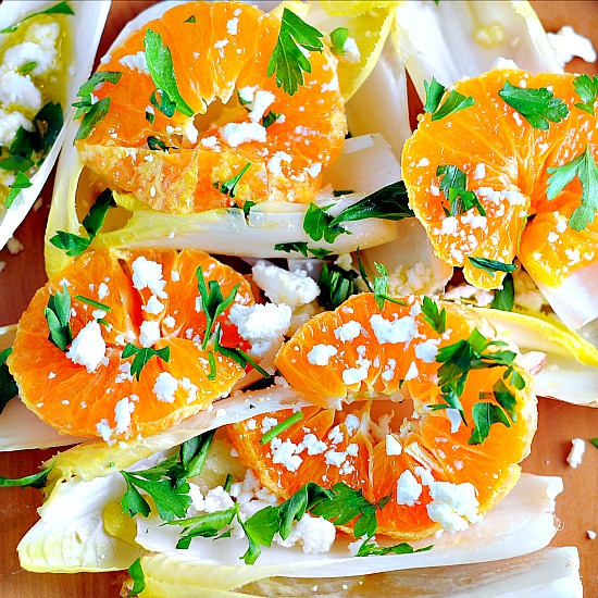 endive salad with oranges