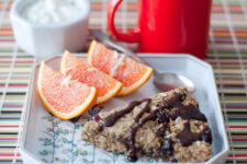 dark chocolate oat scones