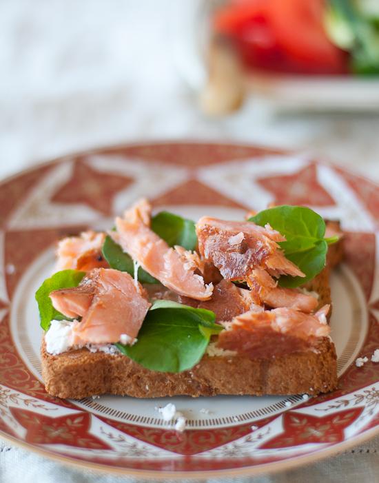 smoked salmon on toast image