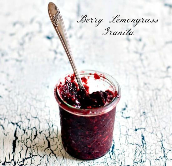 Berry Lemongrass Granita from Healthy Green Kitchen