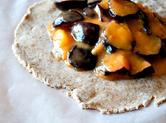 black velvet apricot galette
