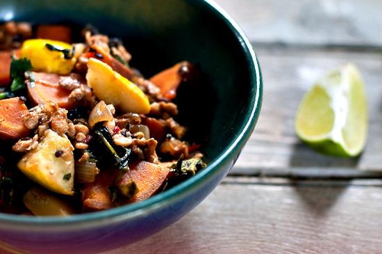 Stir-fry with tempeh