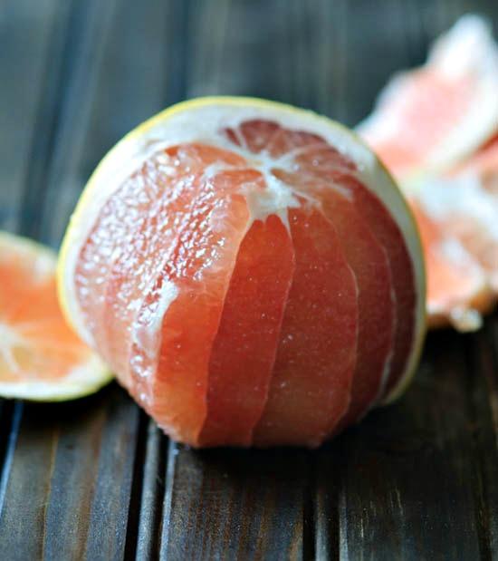 peeling a grapefruit