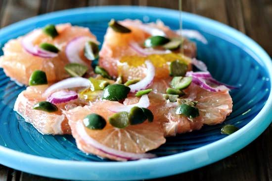 pink grapefruit olive salad