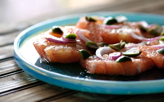 savory pink grapefruit salad