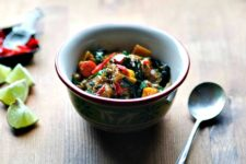 coconut chickpeas with kale