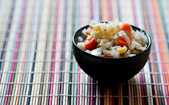 homemade asian sauerkraut