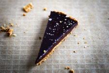 sea salted chocolate tart