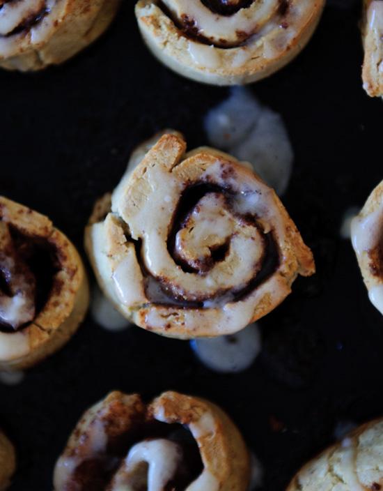 buckwheat flour cinnamon rolls