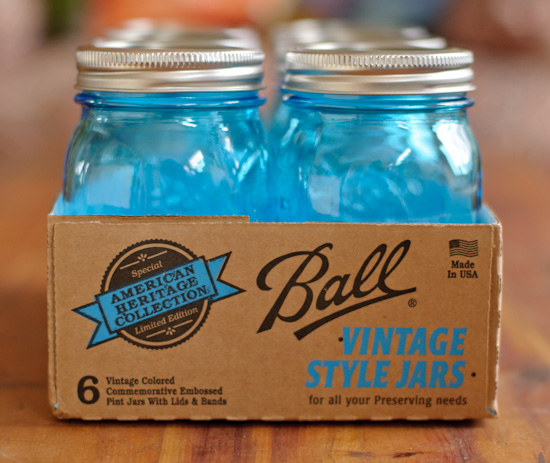 healthy green kitchen vintage-inspired blue canning jars giveaway