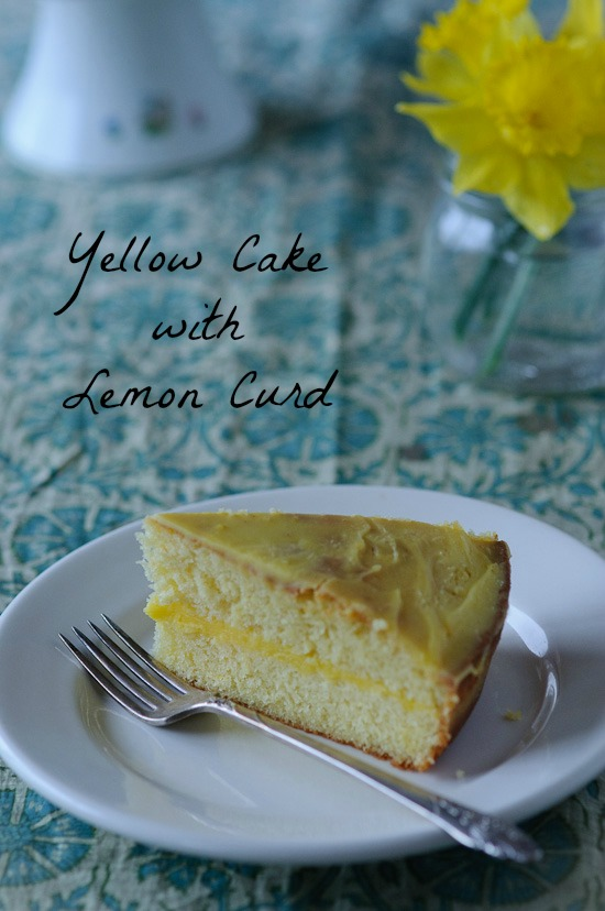 Yellow Cake with Lemon Curd from Healthy Green Kitchen