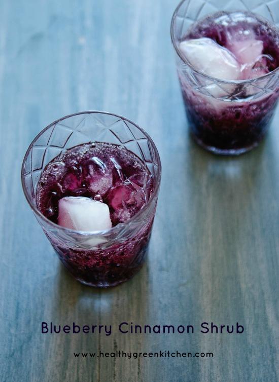 Blueberry Cinnamon Shrub from Healthy Green Kitchen