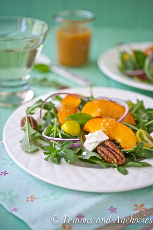 Arugula-Salad-with-Apricot-Mint-Vinaigrette-from lemons and anchovies - Copy