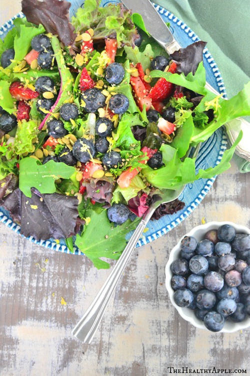 Blueberry-Salad-with-Coconut-Cilantro-Dressing-The Healthy Apple - Copy
