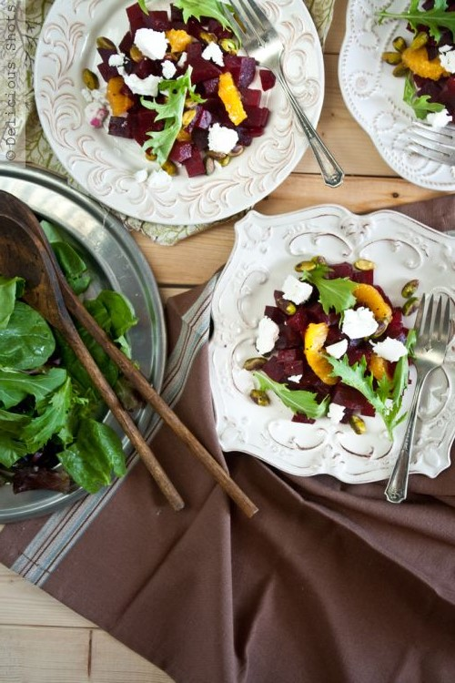 beet goat cheese salad from delicious shots