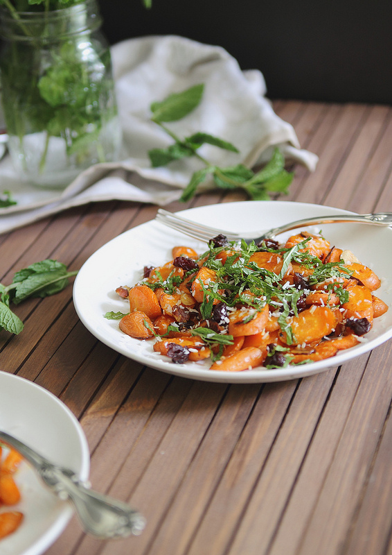 Coconut roasted carrot salad from www.healthygreenkitchen.com