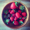 Homegrown strawberries from Healthy Green Kitchen