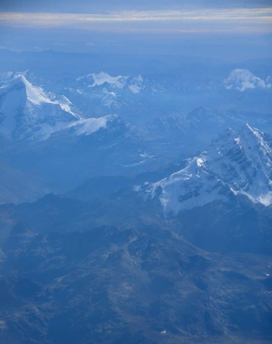 airplane view of Peru