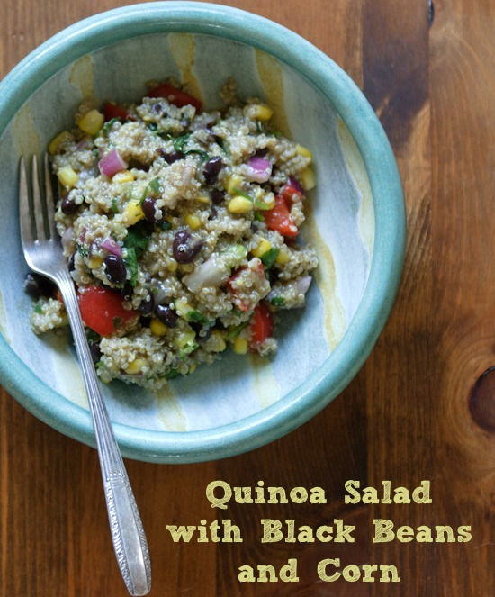Green Kitchen Quinoa Salad with Black Beans + Corn - Healthy Green ...
