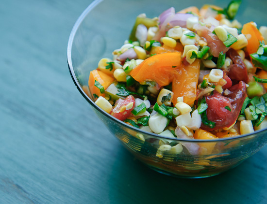 Fresh Salsa with Heirloom Tomatoes