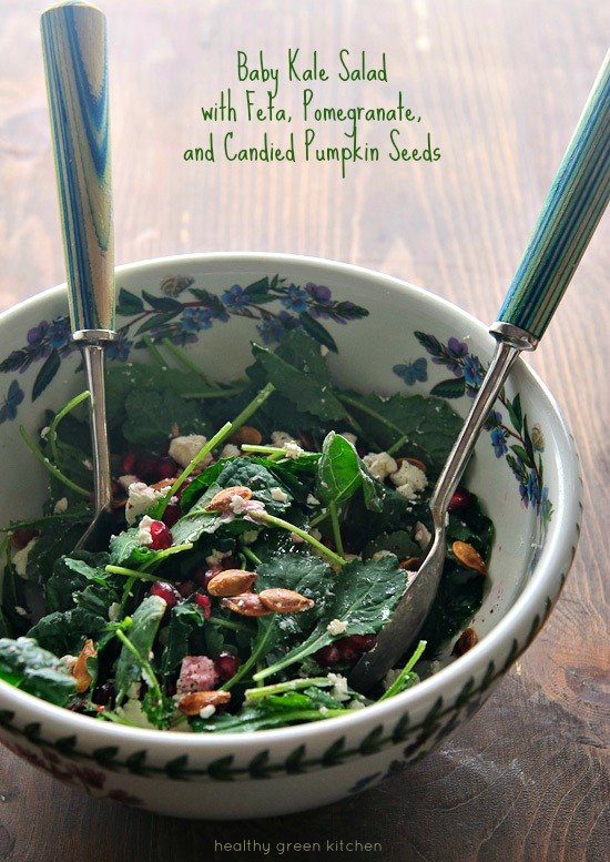 Baby Kale Pomegranate Salad | Healthy Green Kitchen