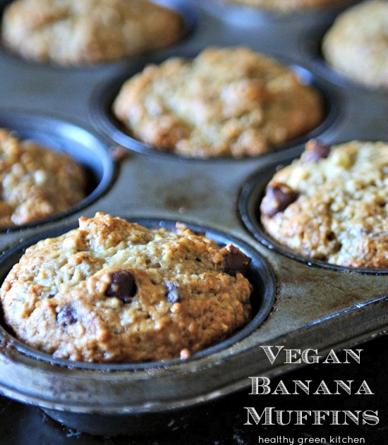Vegan Banana Muffins | Healthy Green Kitchen
