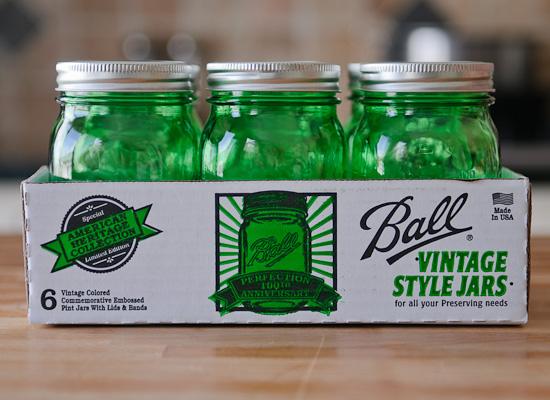 Green Ball Jars (giveaway at Healthy Green Kitchen)