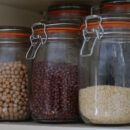 jars in cabinet
