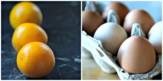 oranges and eggs