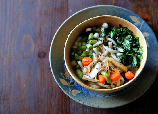 udon soup with kimchi | healthy green kitchen