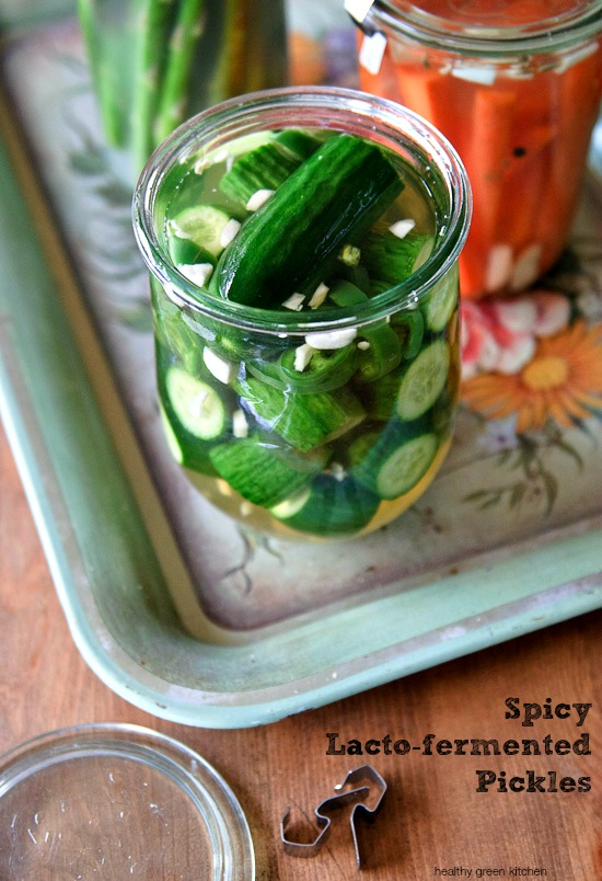 spicy lacto-fermented pickles | healthy green kitchen