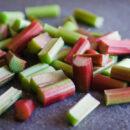 cut rhubarb_