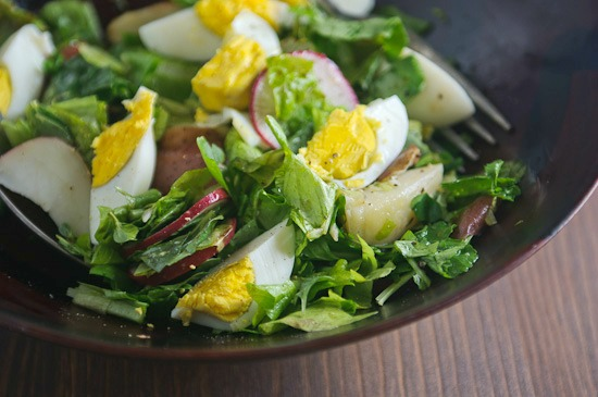 salad with eggs | healthy green kitchen