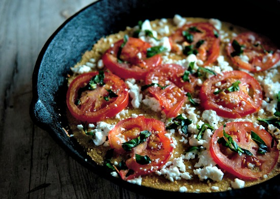 socca pizza from the homemade flour cookbook | healthy green kitchen