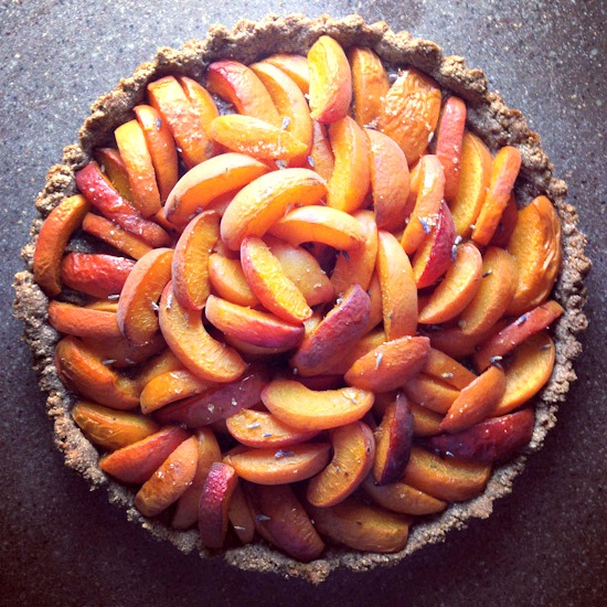 apricot and lavender tart | healthy green kitchen
