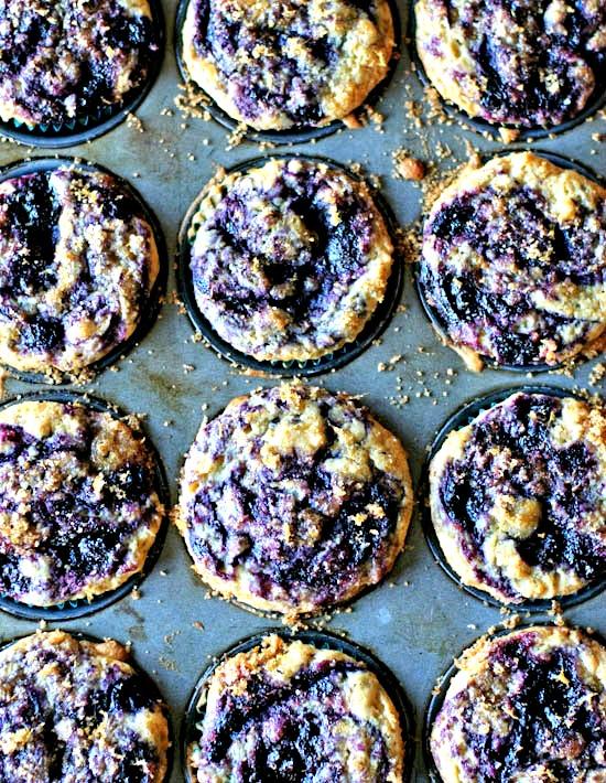 blueberry swirl muffins   healthy green kitchen