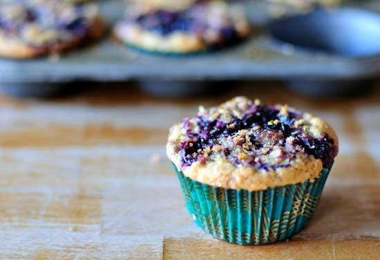 blueberry swirl muffin   healthy green kitchen